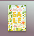 summer sale ad poster with exotic tropical vector image vector image