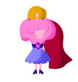 super mom mothers day cartoon clipart strong vector image