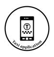 Taxi service mobile application icon vector image vector image