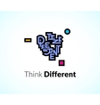 think different phrase graffiti logo sign concept vector image vector image