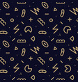 trendy seamless geometric pattern - memphis vector image vector image