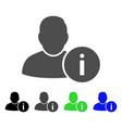 User info flat icon vector image