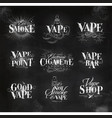vape elements chalk vector image