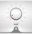 volume for media player vector image vector image