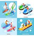water sport 2x2 design concept vector image vector image