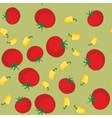 Yellow pepper and tomato seamless texture 563 vector image vector image