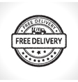 Black stamp icon free delivery business vector image