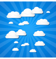 Clouds on Blue Background vector image