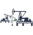 oil pumpjack refinery vector image