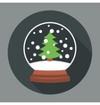 Snowball Icon Flat vector image