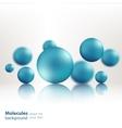 3d molecule model creative design vector image vector image