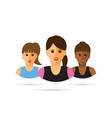 a group of three women cartoon vector image vector image