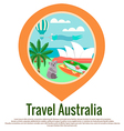 Australia Travel badge vector image vector image