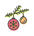 balls christmas toys icon vector image vector image