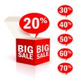 Big box sale vector image vector image