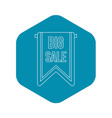 big sale banner icon outline style vector image vector image