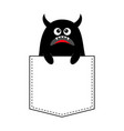 black monster silhouette in the pocket holding vector image vector image