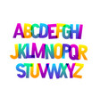 bold bright condensed gradient grotesque vector image vector image