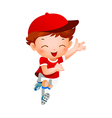 Boy sport player running vector image vector image