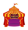 bright colors circus tent vector image vector image
