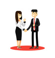 Business woman and man of transaction vector image vector image