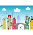 cartoon Landscape Town vector image
