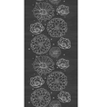 Chalk flowers blackboard vertical border seamless vector image vector image