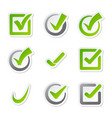 check box icons vote mark sign choice yes vector image vector image