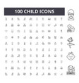 child line icons signs set outline vector image vector image