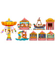 Children playing in the park and many games vector image vector image