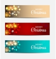 Christmas Website Banner and Card Background vector image vector image