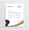 clean modern business letterhead template design vector image vector image