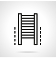 Climb wall bars simple line icon vector image