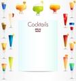 Cocktails backgound vector image
