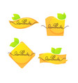 collection of bright and shine logo stickers vector image vector image