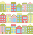 color cartoon houses vector image