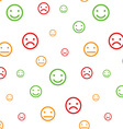Color smiley faces seamless pattern vector image vector image