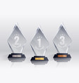 competition trophies realistic set vector image vector image