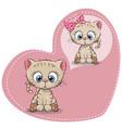 cute cartoon dreaming kitten vector image vector image