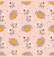 Daisy seamless pattern chamomile background
