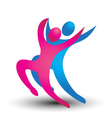Dancer figures logo vector image vector image