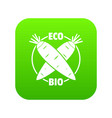 eco bio vegetables icon green vector image