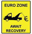 Euro Zone Sign vector image vector image