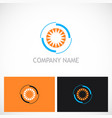 eye cam optic logo vector image vector image