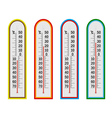 four thermometer vector image