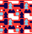 full colour shape forest seamless pattern vector image vector image