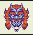 giant masking monster vector image