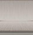 grey wooden wall and floor vector image vector image