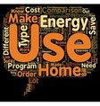HOME ENERGY USE COMPARISONS 1 text background vector image vector image