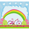 I love my bike abstract card vector image vector image